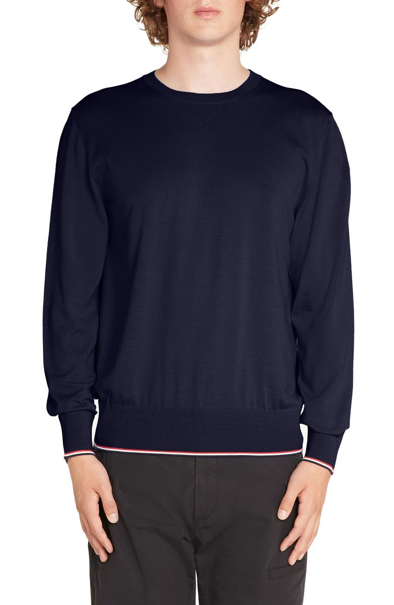 MONCLER Tricot Girocollo Wool Sweater, Main, color, 419