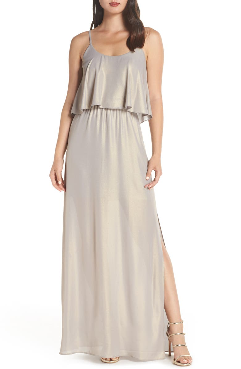WAYF The Carolina Popover Gown, Main, color, 049