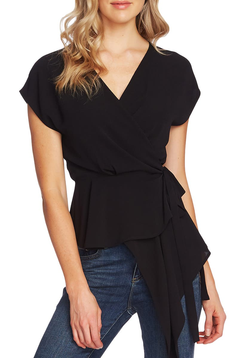 Asymmetrical Wrap Blouse by Vince Camuto