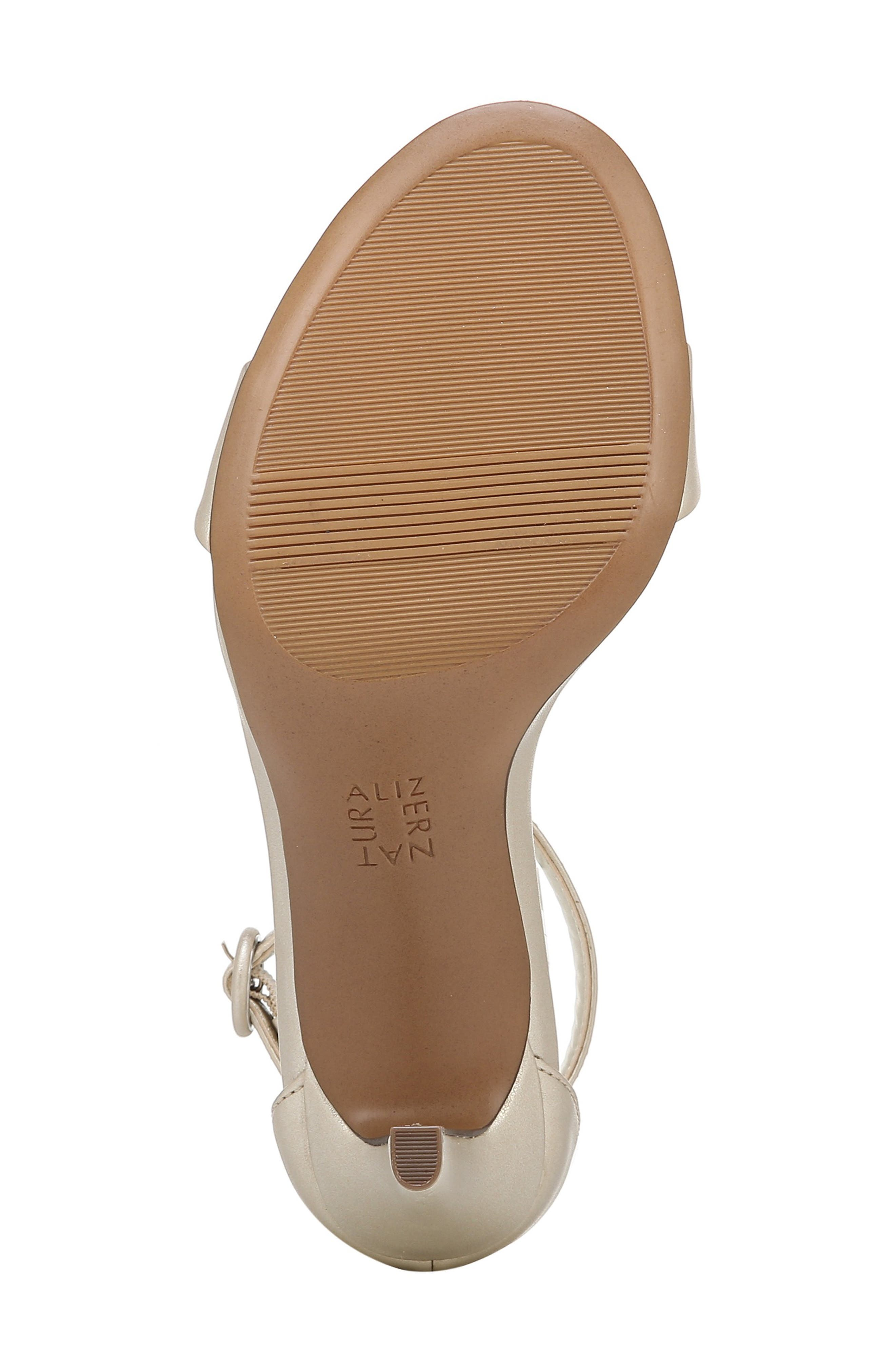 ,                             Kinsley Sandal,                             Alternate thumbnail 6, color,                             CHAMPAGNE FAUX LEATHER