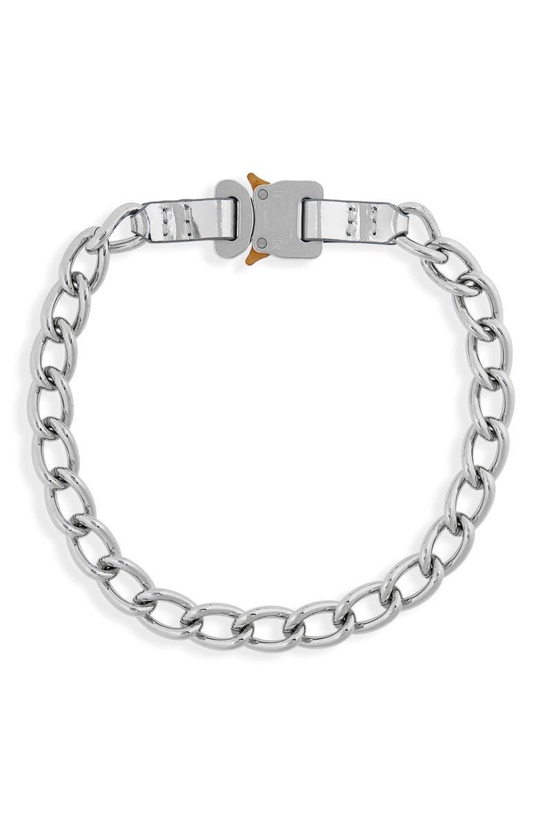 1017 ALYX 9SM Leather Trim Chain Necklace, Main, color, 040