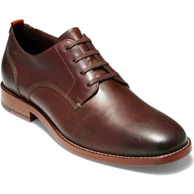 Cole Haan Feathercraft Grand Butcher Plain Toe Derby, Brown