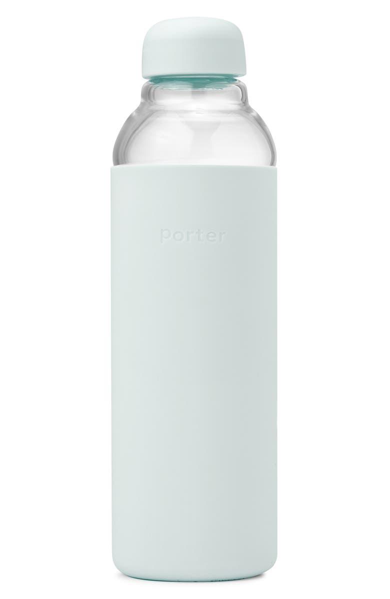 W&P DESIGN Porter Resusable Glass Water Bottle, Main, color, MINT