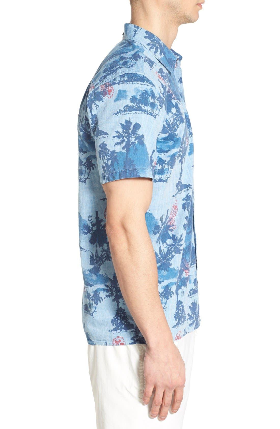 ,                             'Capitola' Dri-FIT Print Woven Shirt,                             Alternate thumbnail 6, color,                             411