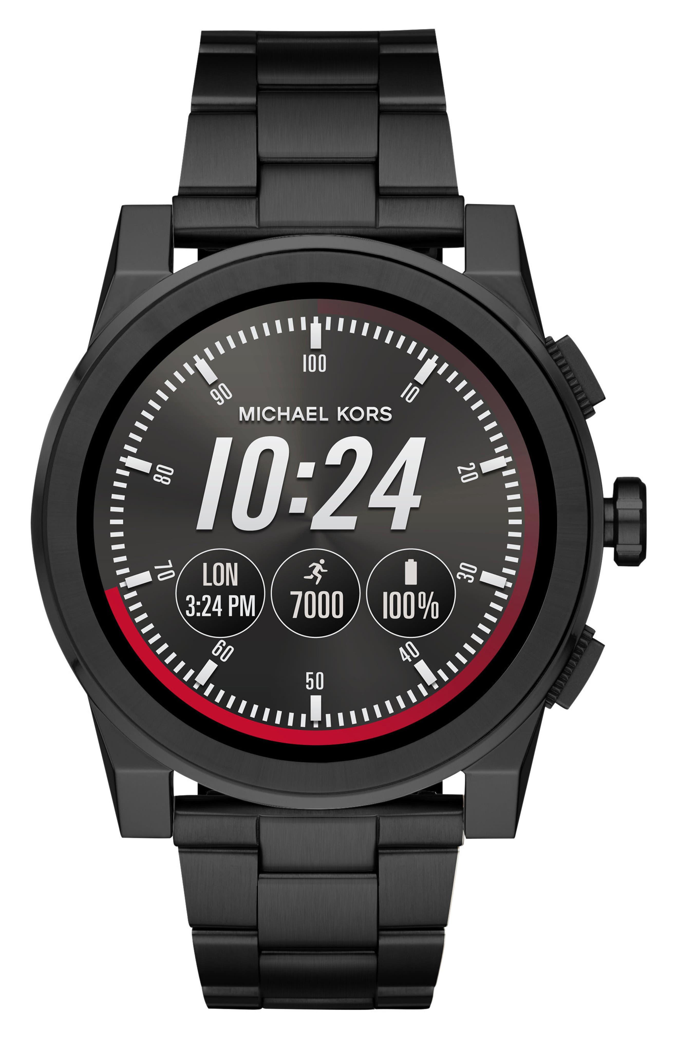 ,                             Grayson Smart Bracelet Watch, 47mm,                             Main thumbnail 1, color,                             BLACK