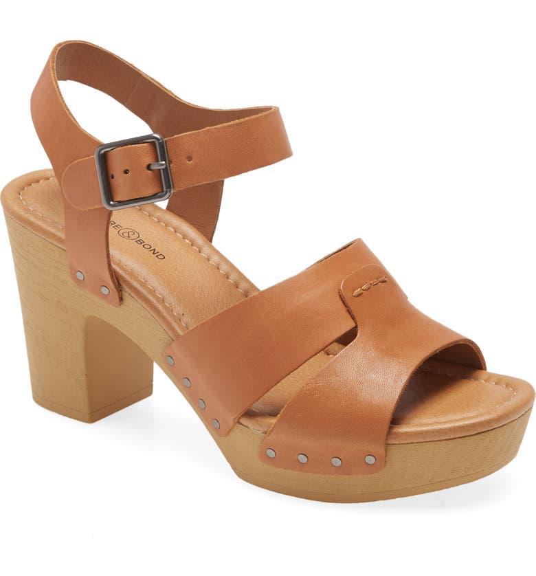 TREASURE & BOND Harmony Platform Sandal, Main, color, TAN LEATHER
