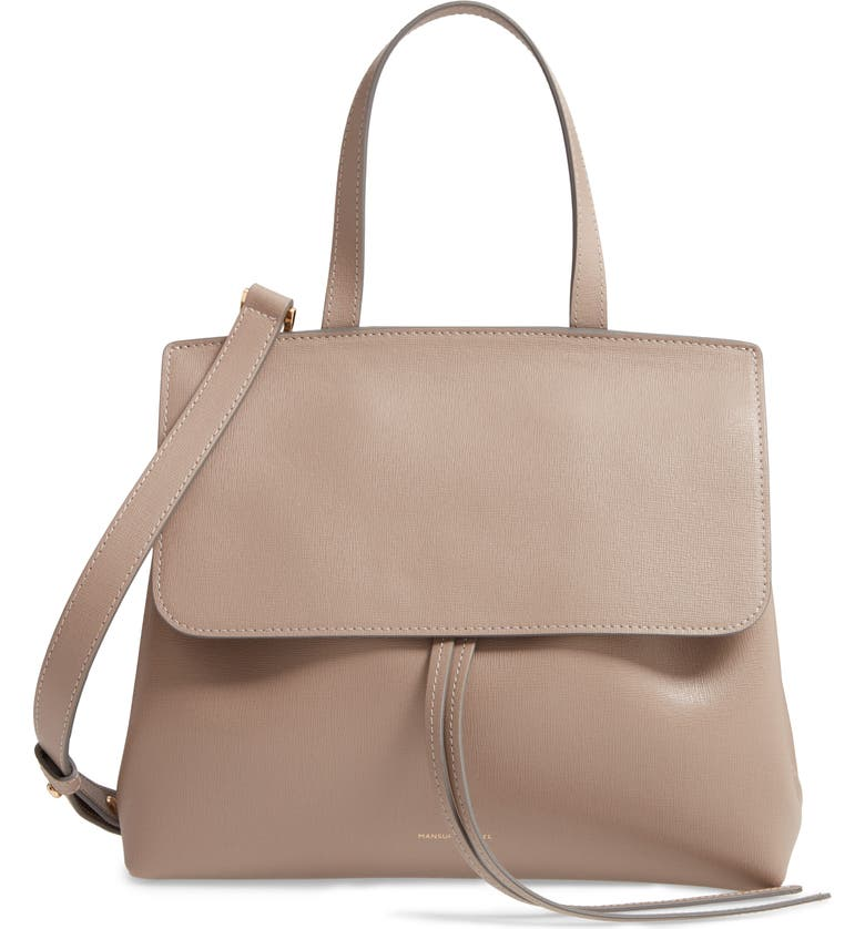 MANSUR GAVRIEL Mini Mini Lady Saffiano Leather Bag, Main, color, ELEFANTE