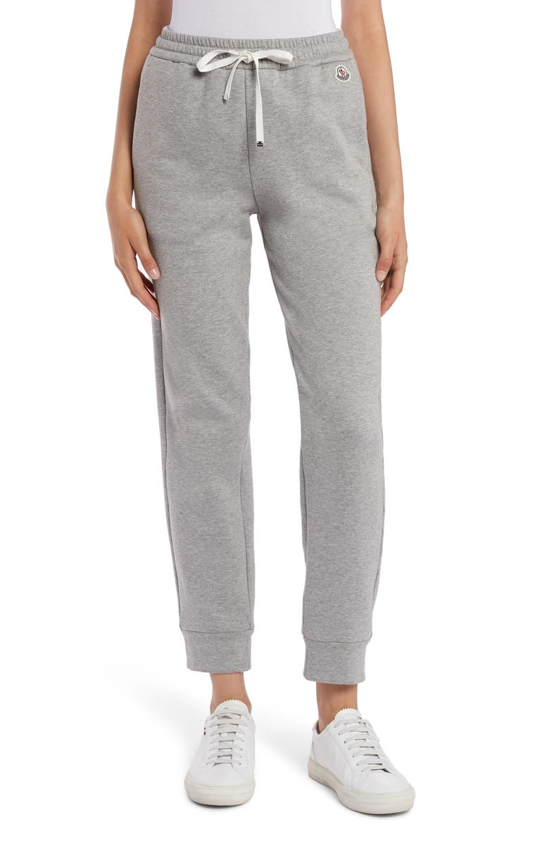 MONCLER Cotton & Nylon Jogger Sweatpants, Main, color, GREY