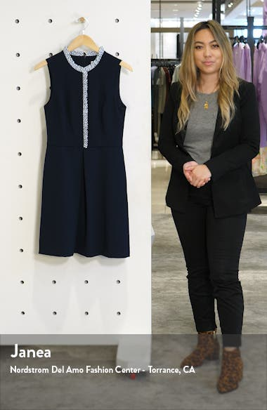 Ruffle Trim Sleeveless Crepe Dress, sales video thumbnail
