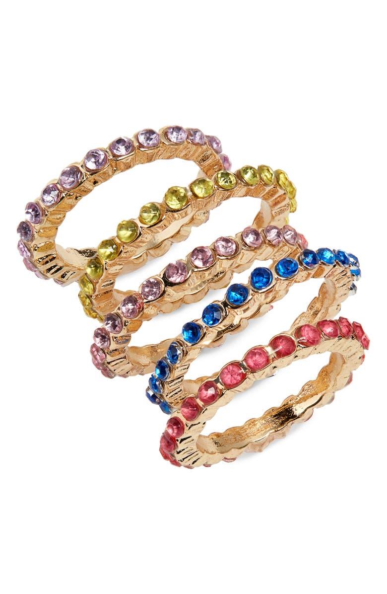 BP. Set of 5 Imitation Stone Rings, Main, color, 000