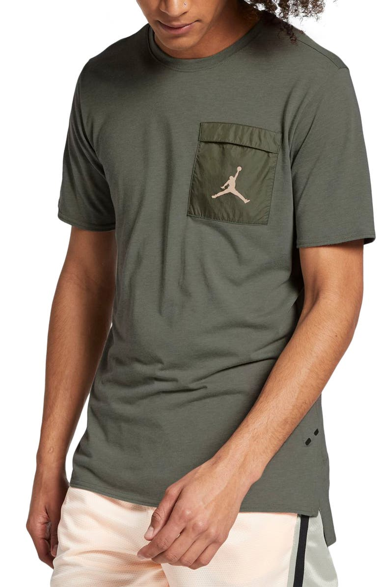 JORDAN Dri-FIT 23 Engineered Cool T-Shirt, Main, color, SPRUCE FOG/ VINTAGE LICHEN
