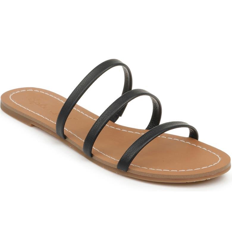 SPLENDID Splenid Meaghan Slide Sandal, Main, color, BLACK LEATHER