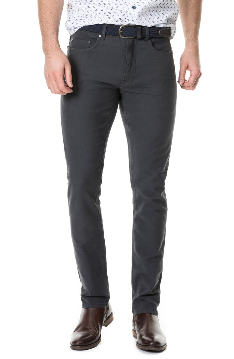 RODD & GUNN Motion Straight Leg Jeans, Main, color, COAL