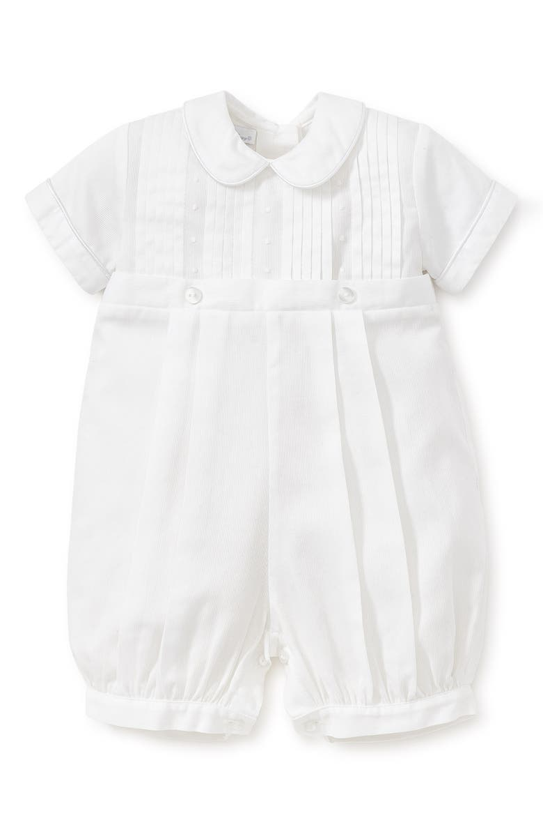 KISSY KISSY Alexander Collared Romper, Main, color, WHITE