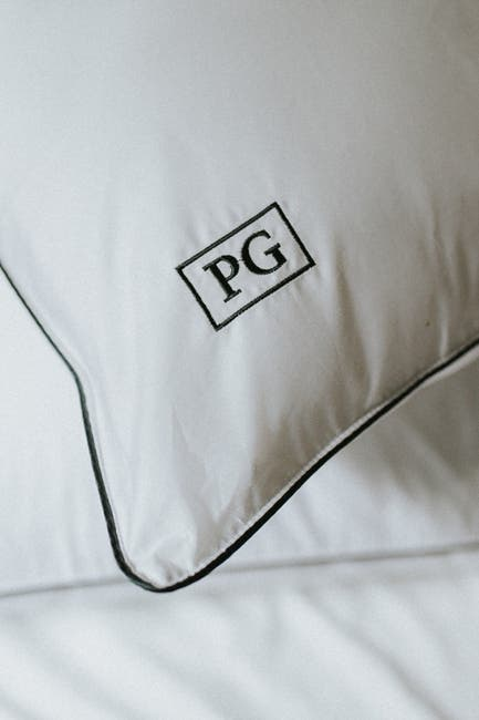 Image of Pillow Guy Standard/Queen  100% Cotton Sateen Pillow Protector - Set of 2 - White/Navy