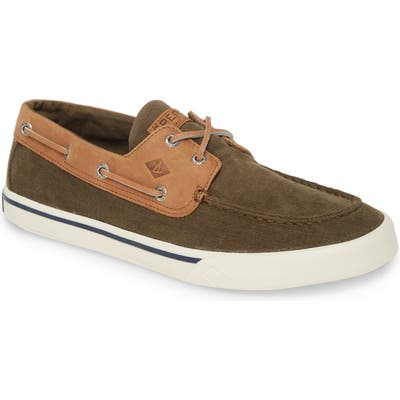 Sperry Bahama Ii Corduroy Boat Shoe- Green