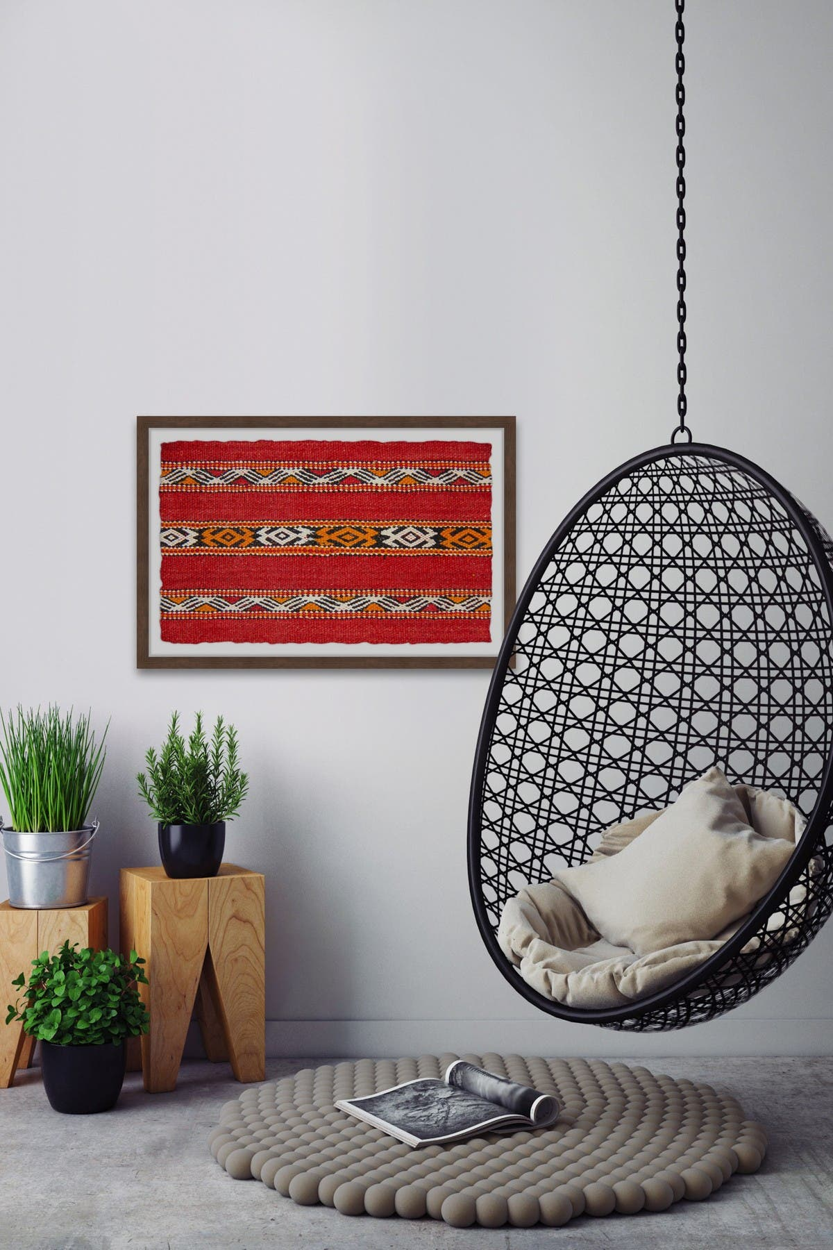 Marmont Hill Inc. Abstract Red Cloth Wall Art at Nordstrom Rack