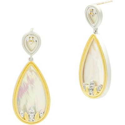 Freida Rothman Fleur Bloom Teardrop Earrings