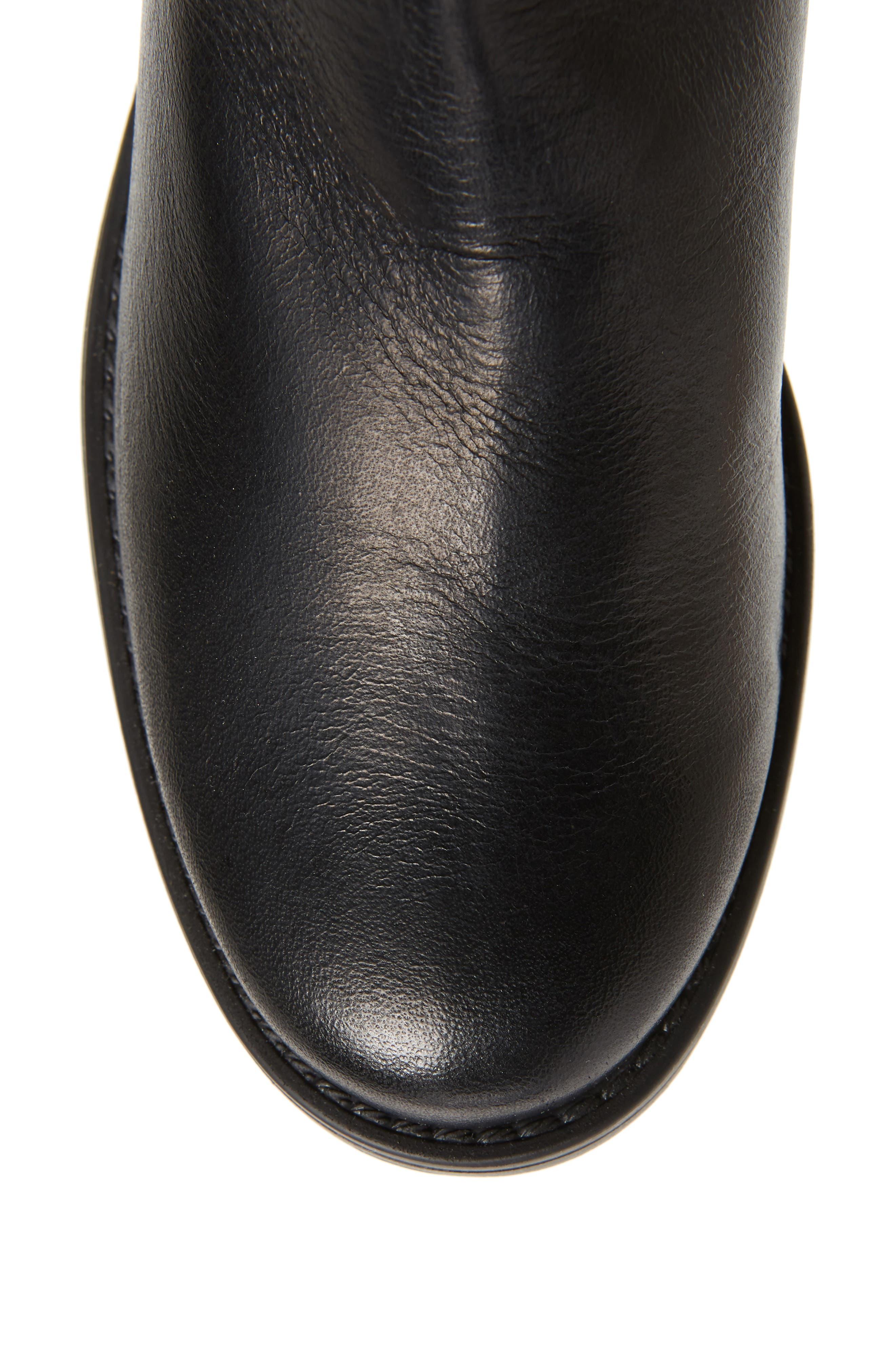 ,                             Amalfi 16 Boot,                             Alternate thumbnail 5, color,                             BLACK LEATHER