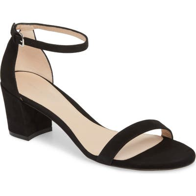 Stuart Weitzman Simple Ankle Strap Sandal, Black