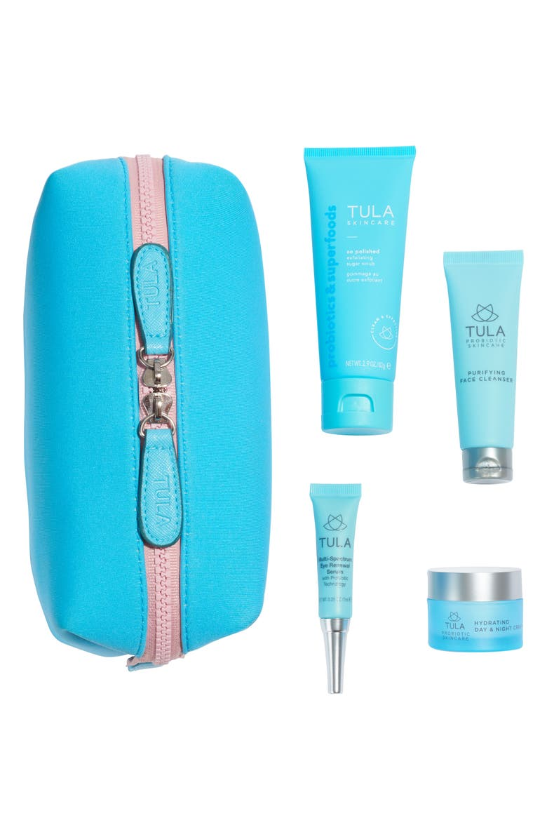 TULA PROBIOTIC SKINCARE Exfoliate & Glow Summer Set, Main, color, NO COLOR