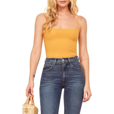 Reformation Carrie Camisole, Yellow