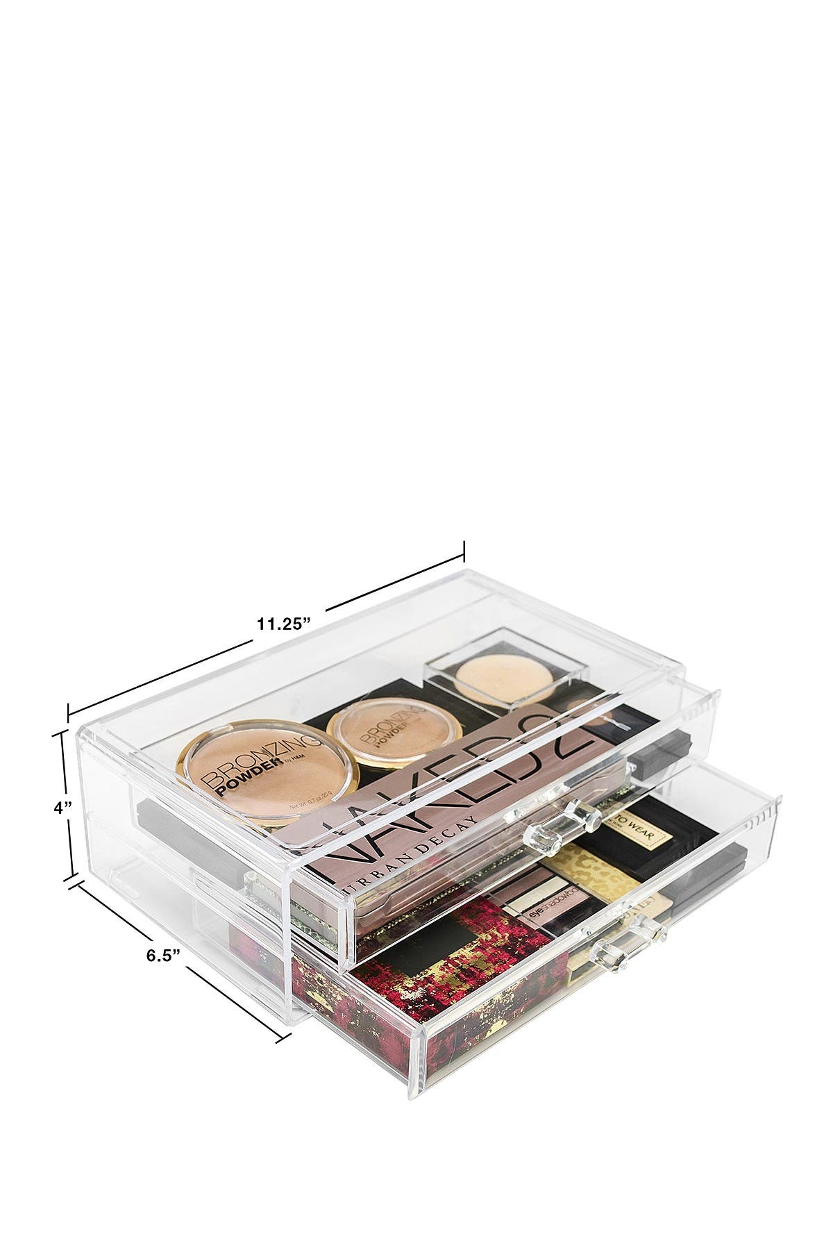 Image of Sorbus Acrylic 2 Drawer Cosmetics Makeup & Jewelry Storage Case Display Set
