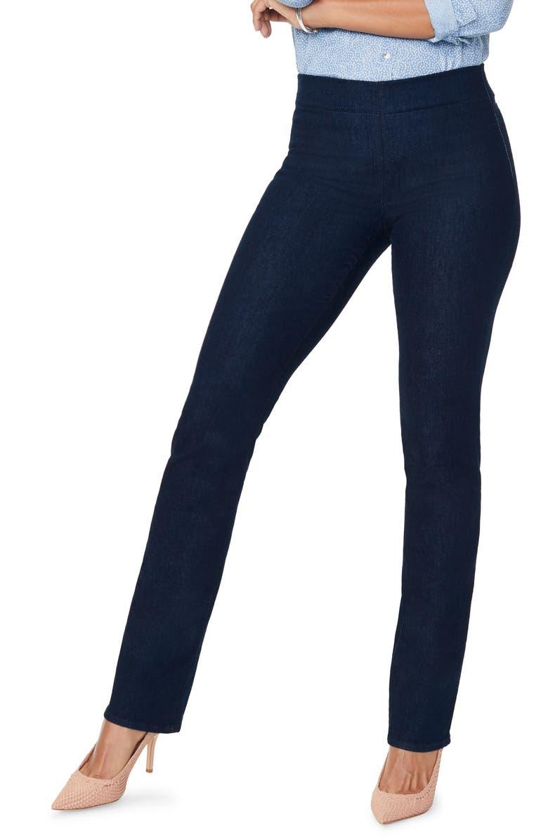 NYDJ Marilyn Straight Leg Ponte Pants, Main, color, RINSE