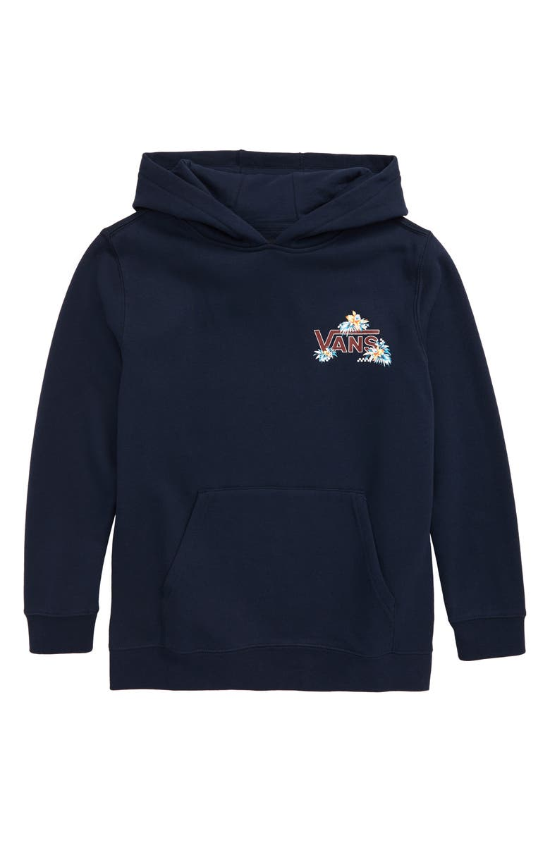 VANS Fountain Valley Fleece Hoodie, Main, color, DRESS BLUES