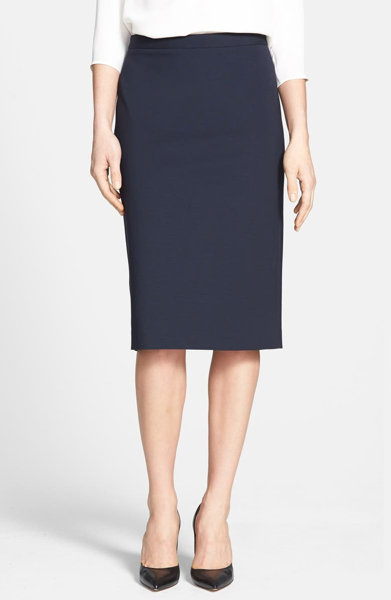 THEORY 'Super' Pencil Skirt, Main, color, 400
