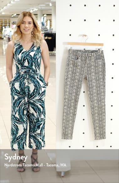 Snake Print Skinny Jeans, sales video thumbnail
