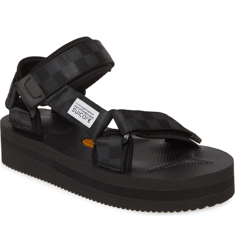 SUICOKE Depa Platform Sandal, Main, color, BLACK