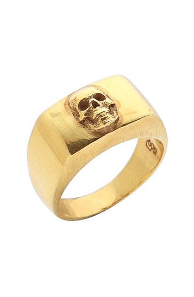 DEGS & SAL Skull Ring, Main, color, GOLD