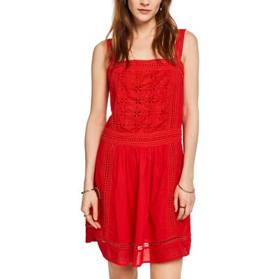 Scotch & Soda Summer Broderie Anglaise Sundress, Red