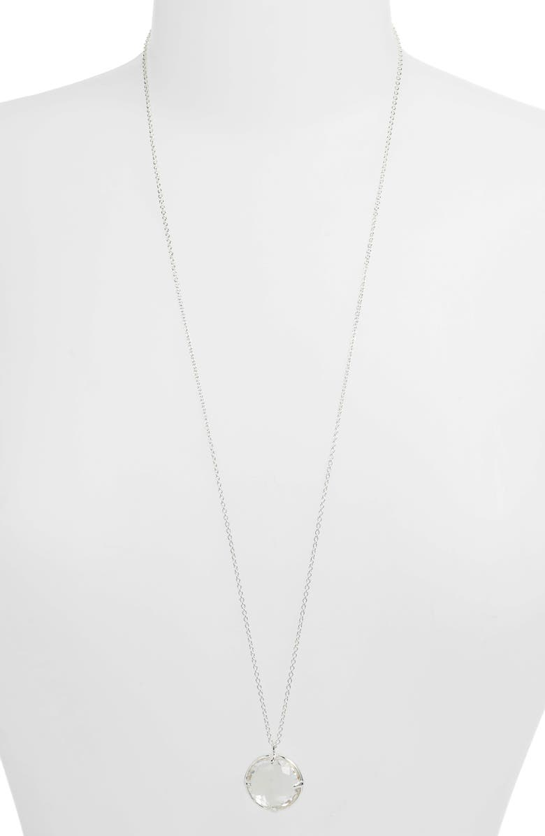 IPPOLITA Rock Candy Pendant Necklace, Main, color, SILVER/ QUARTZ