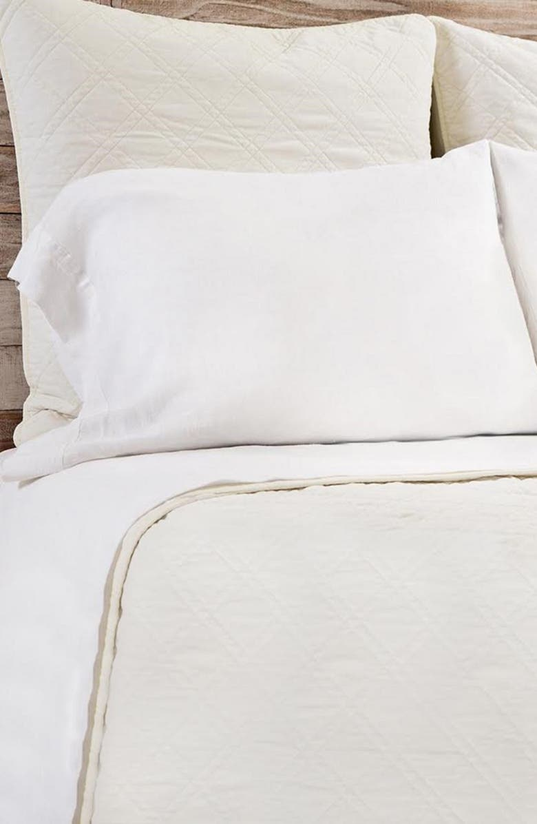 POM POM AT HOME Brussels Coverlet, Main, color, CREAM