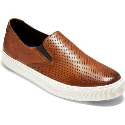 Cole Haan Grandpro Deck Slip-On- Brown