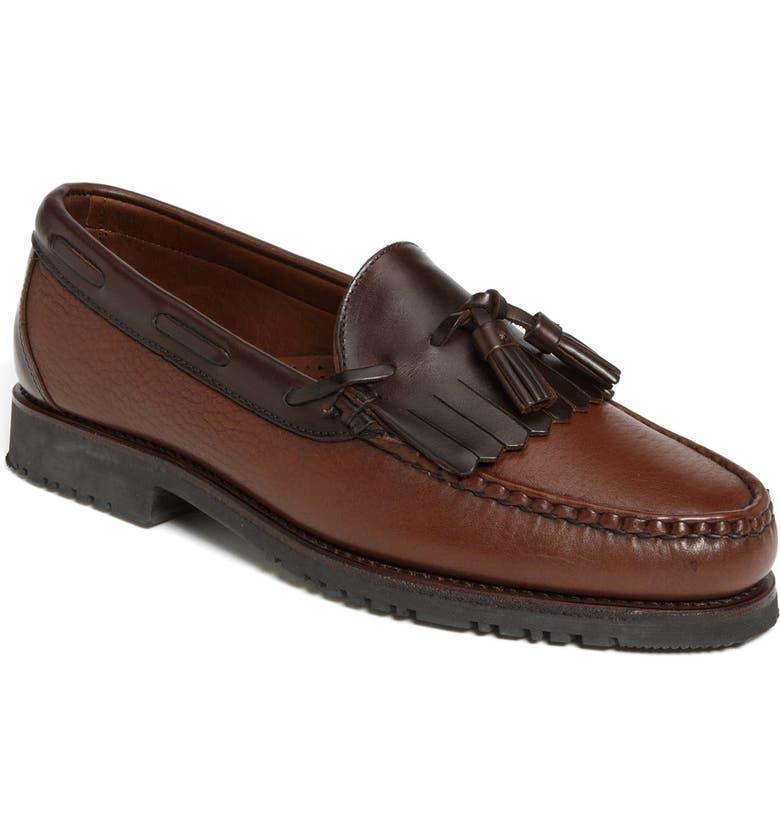 ALLEN EDMONDS Nashua Tassel Loafer, Main, color, Brown/Brown