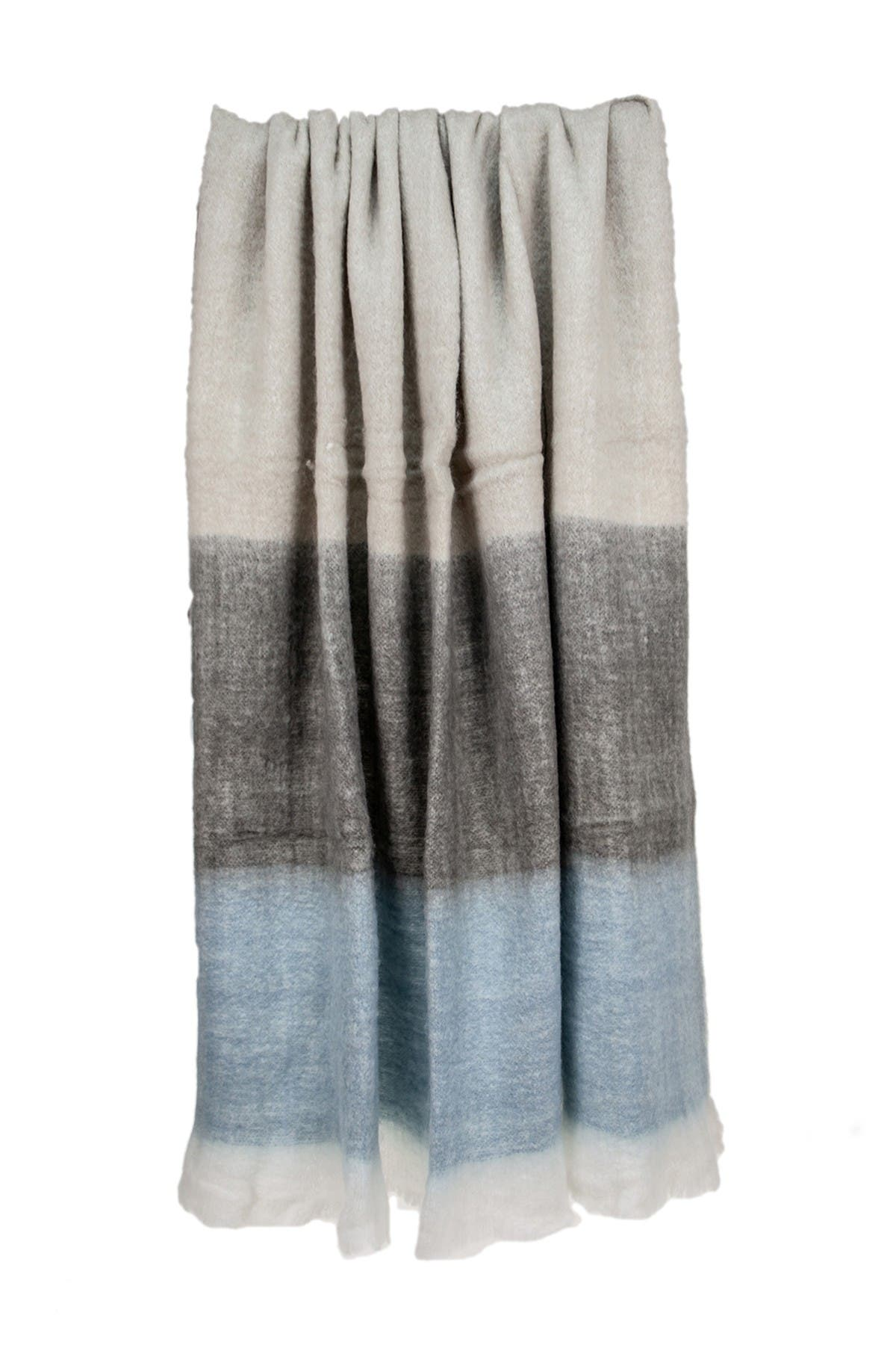 """Image of Parkland Collection Larco Transitional Multi 52"""" x 67"""" Woven Handloom Throw Blanket"""