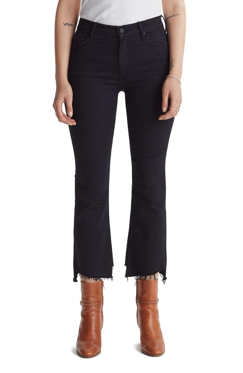 MOTHER The Insider Two Step Fray Hem Crop Jeans, Main, color, NOT GUILTY