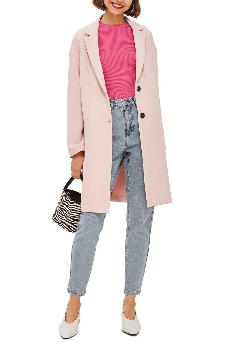 TOPSHOP Crepe Coat, Main, color, 680