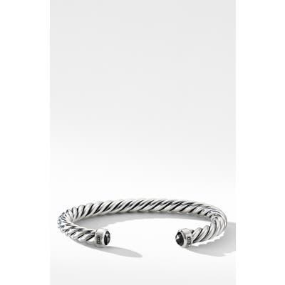 David Yurman Cable Classic Cuff Bracelet With Black Diamonds