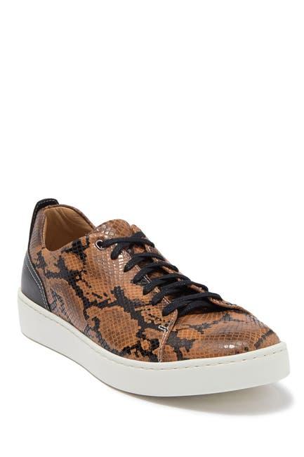 Image of Donald Pliner Alan Snakeskin Embossed Leather Sneaker