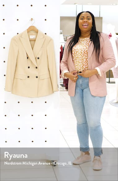 Cameron Double Breasted Wool Suit Jacket, sales video thumbnail
