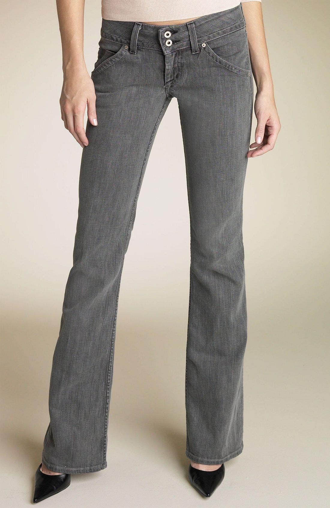 ,                             Signature Flap Pocket Bootcut Jeans,                             Main thumbnail 103, color,                             SMO