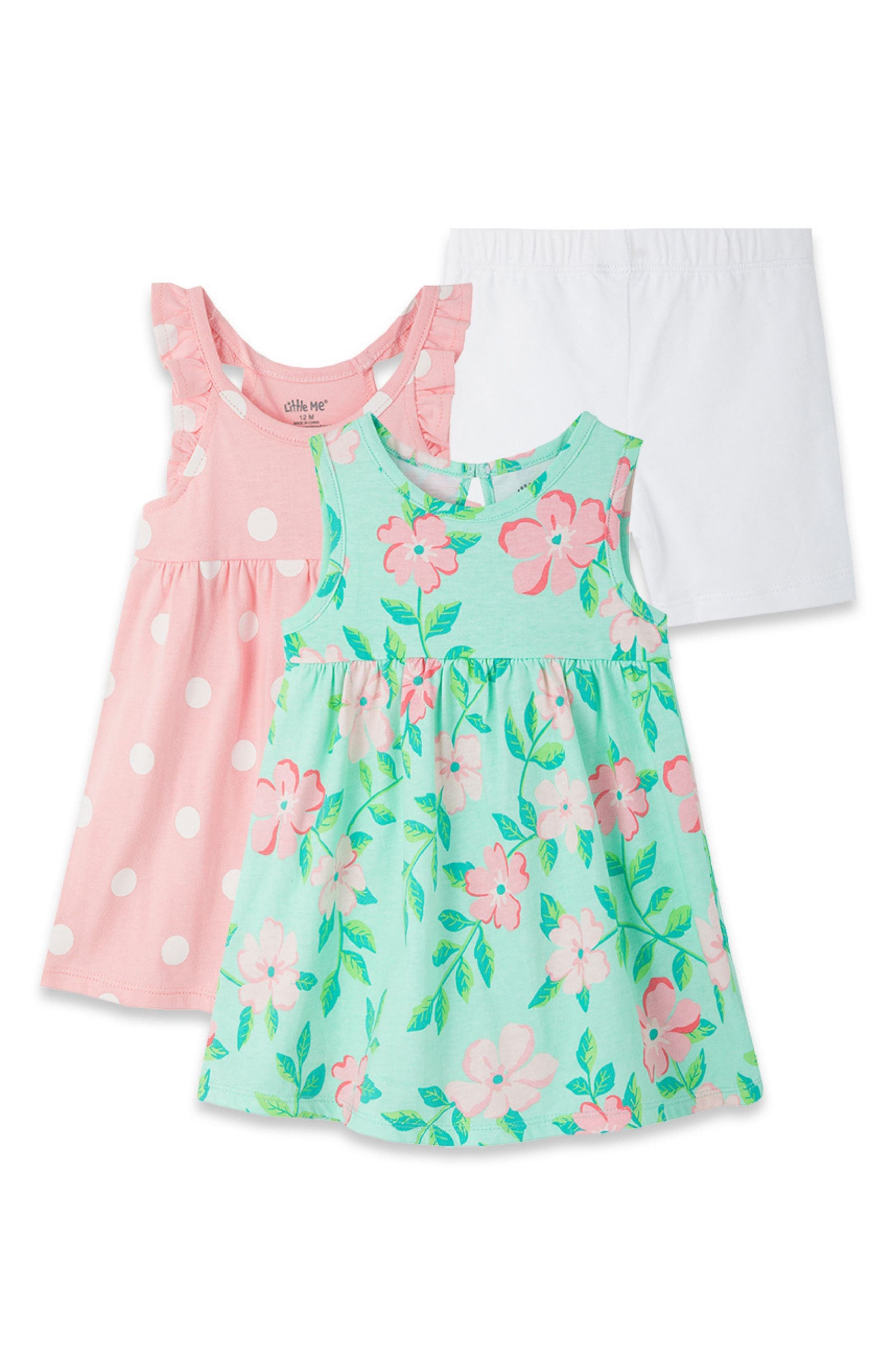 Little Me Girl Toddler Pink Floral Dress Size 18M