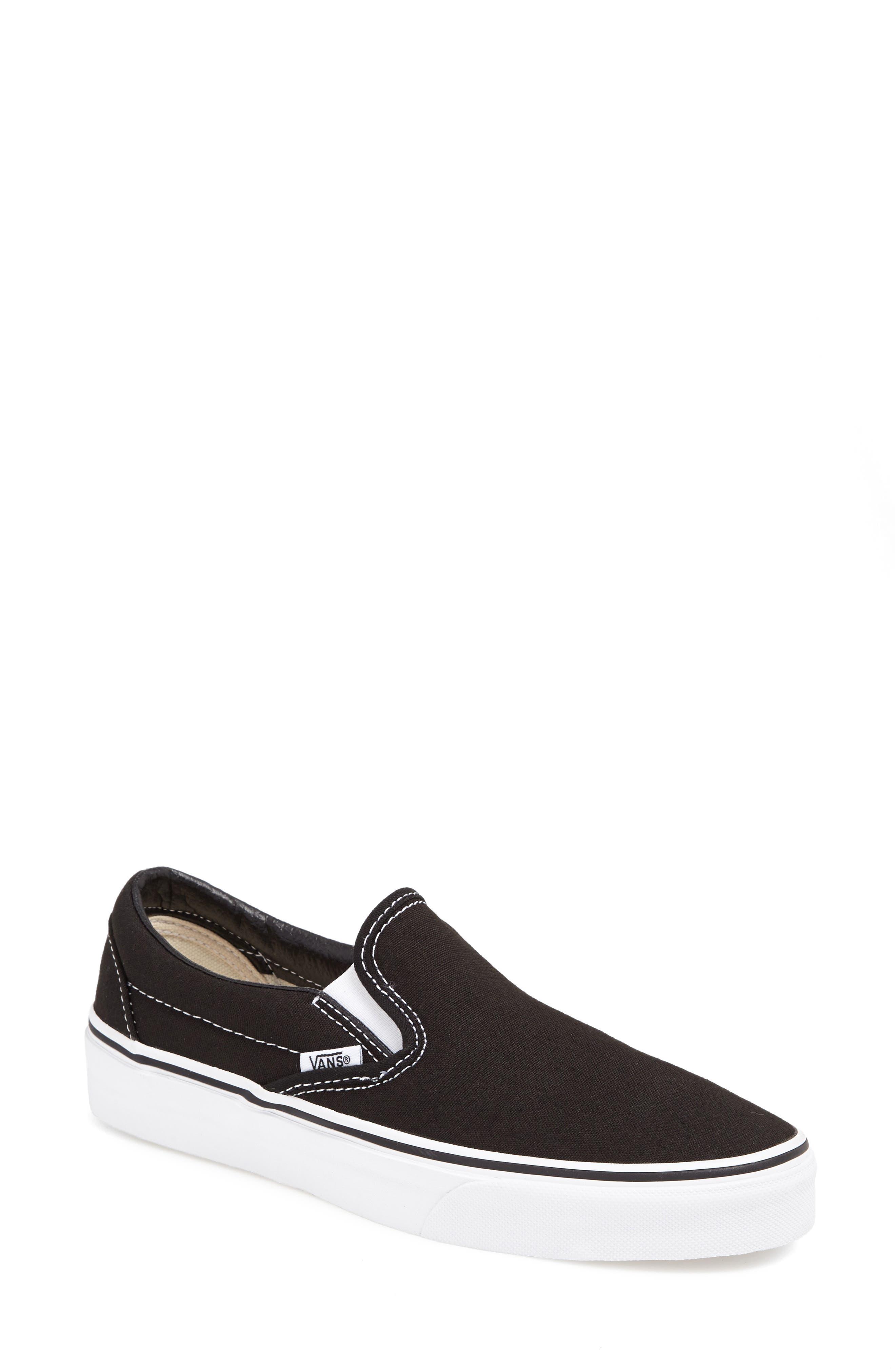 ,                             Classic Slip-On Sneaker,                             Main thumbnail 1, color,                             BLACK