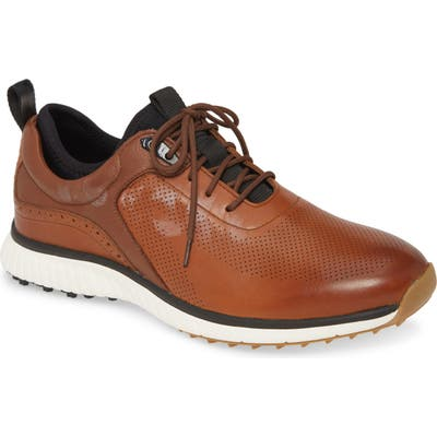 Johnston & Murphy H1 Luxe Hybrid Waterproof Sneaker- Brown