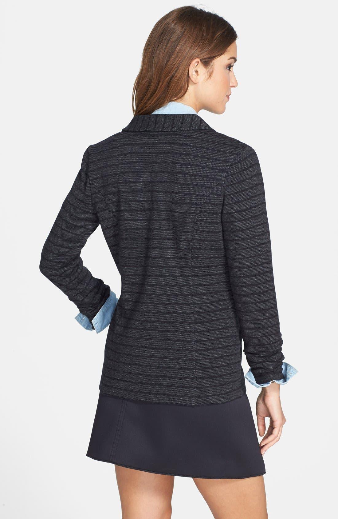 ,                             Roll Sleeve Knit Blazer,                             Alternate thumbnail 9, color,                             021