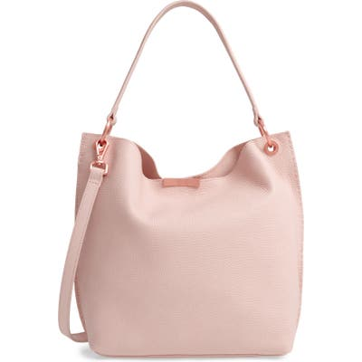 Ted Baker London Candiee Faceted Bar Leather Hobo - Pink